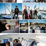 Journée Sponsors pour Jean Le Cam au Vendée Globe